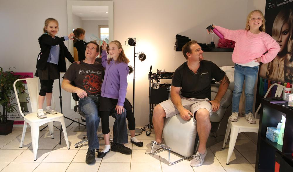 You are currently viewing Dads Swapping Tools For Hairbrushes