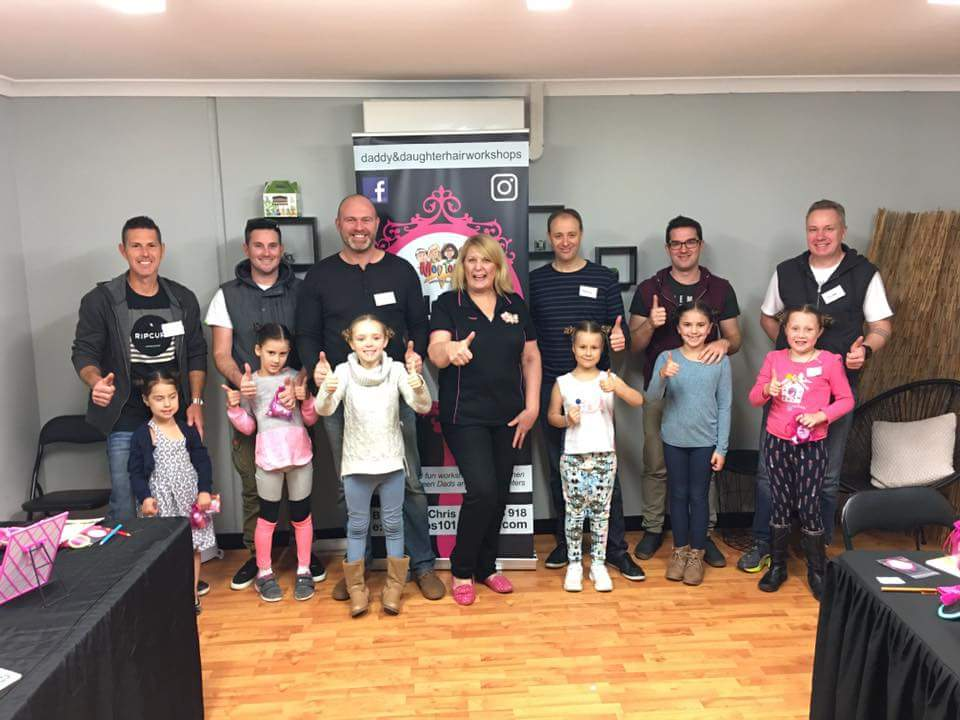 Daddy & Daughter Hair Workshop Graduates